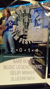 Blueswoman award and me