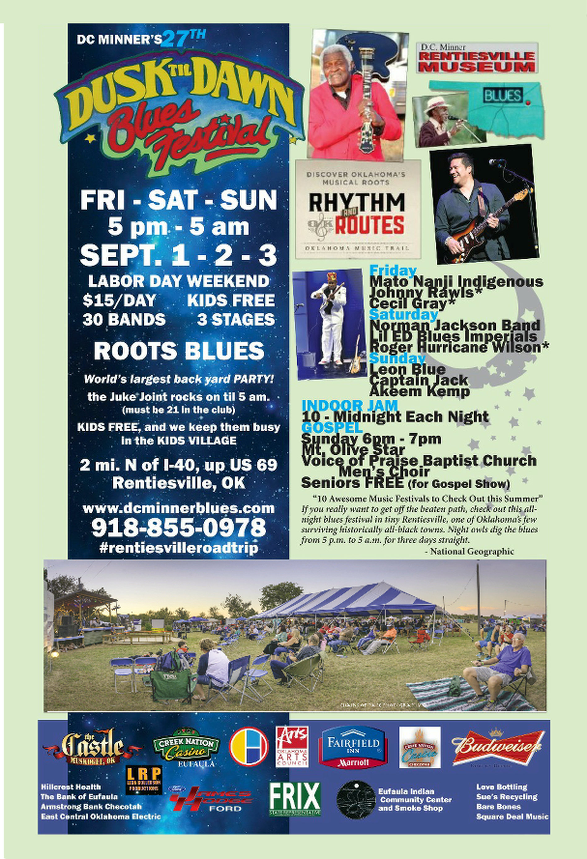rentiesville blues festival u2013 ok blues hall of fame events and music