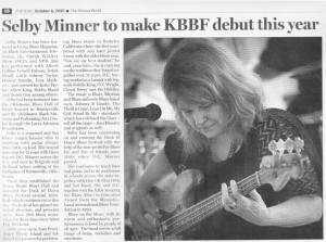 Selby KBBF Debut story