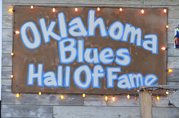 OBHOF sign blue white copper
