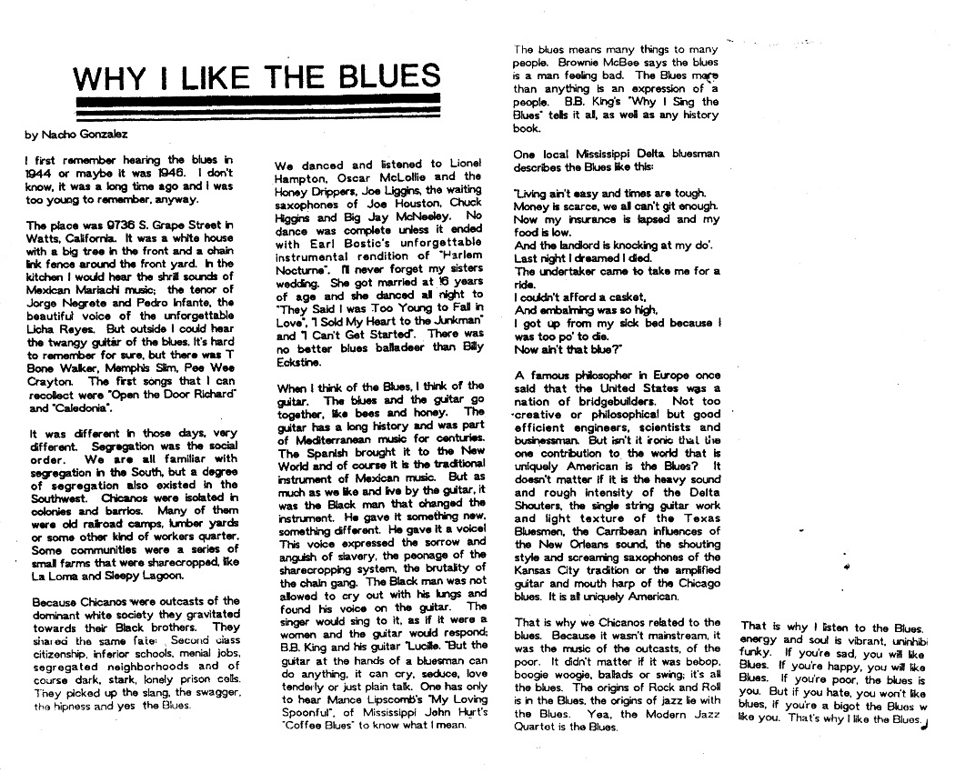 WHY I LIKE THE BLUES from E LA