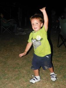 steve shrums young dancing grandchild