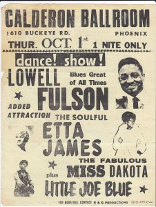 POSTER W COast Bl Lowell Little JOe Etta J