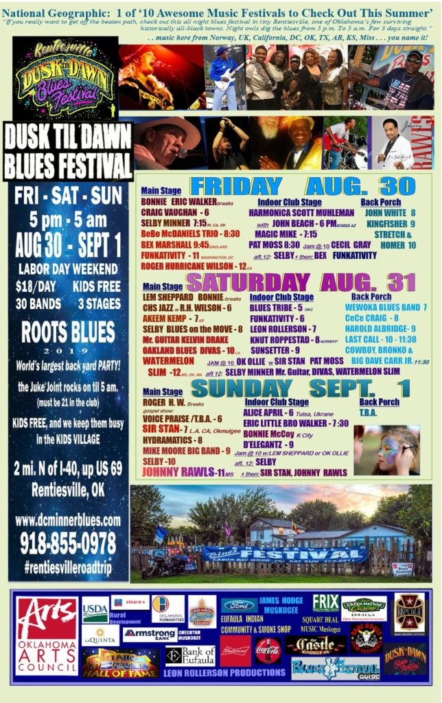 RENTIESVILLE BLUES FESTIVAL – OK Blues Hall of Fame events